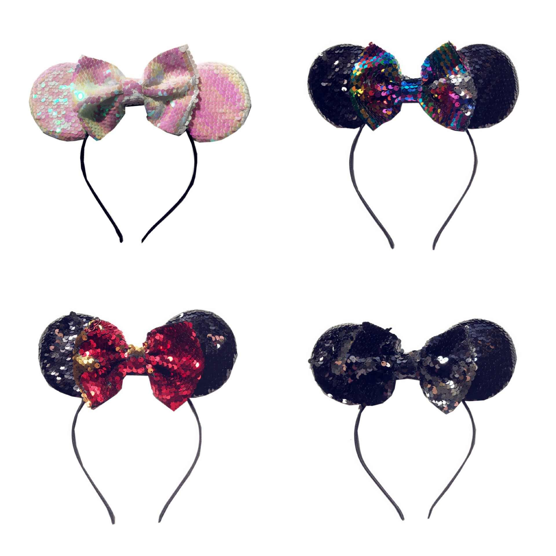 Повязка на голову с ушками Микки для новорожденных девочек красота навсегда Принцесса аксессуары для волос Детские Тюрбан повязки на голову повязка для волос для девочек