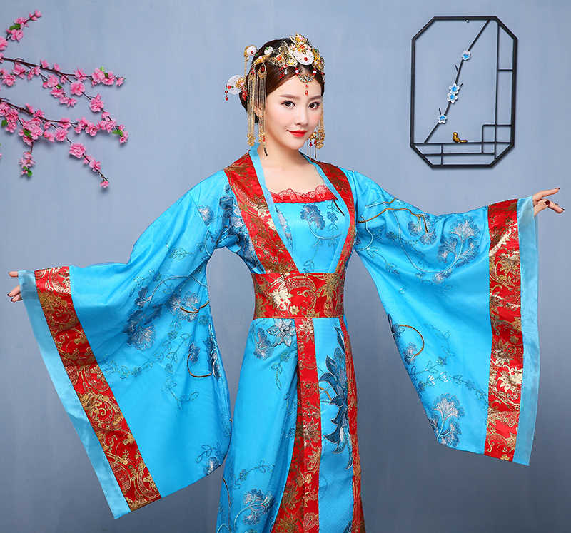 Nuovo Stile Antico Delle Donne del Vestito Della Principessa Costume Tradizionale Cinese per la Fase Orient Antico Queen Abbigliamento per la Danza Fairl Vestito 90