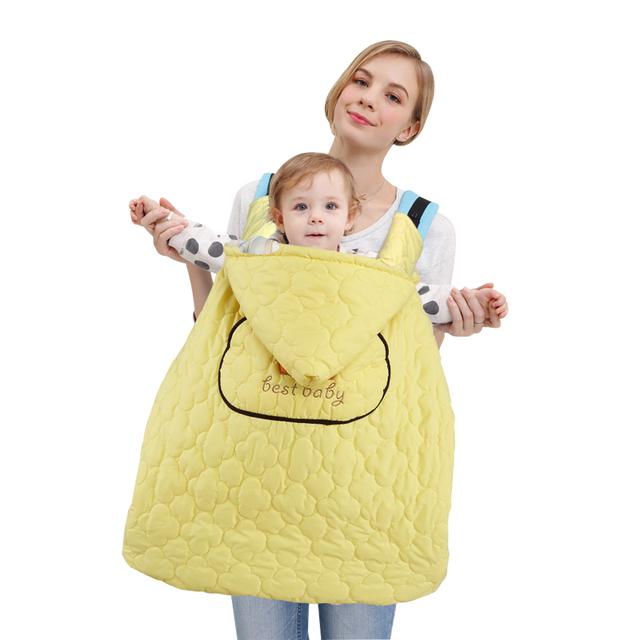 Bebê Receber Cobertores Infantil À Prova de Vento de Inverno Capa Manto Manto Capa À Prova D' Água de Viagem Ao Ar Livre Mochila Criança Portadora 0-3Y