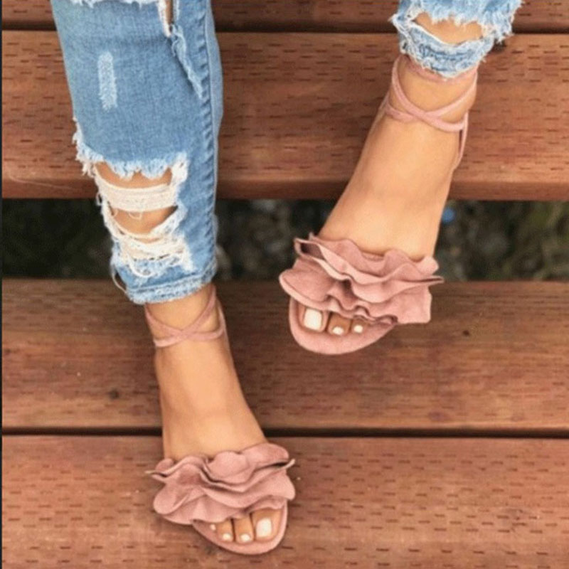 Sandals Woman Lace up Casual Sandals Summer Fashion Flat Shoes Women Open toe Flower Shoes Comfort Rome Beach Ladies shoes dual side blackboard and whiteboard chalk set mini wall mount black board wooden zakka home decoration school supplies 6520