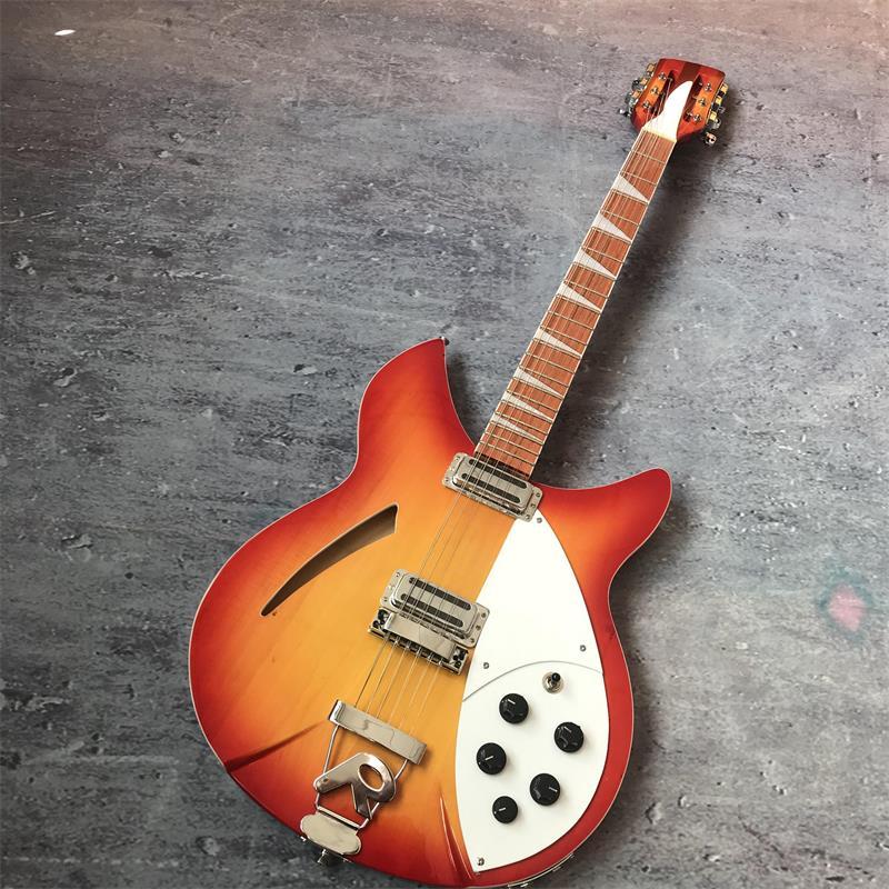 39-pouces 12-chaîne guitare, Rickenback 360 électrique guitare, avec deux sorties, reflets laqués sur le acajou touche.