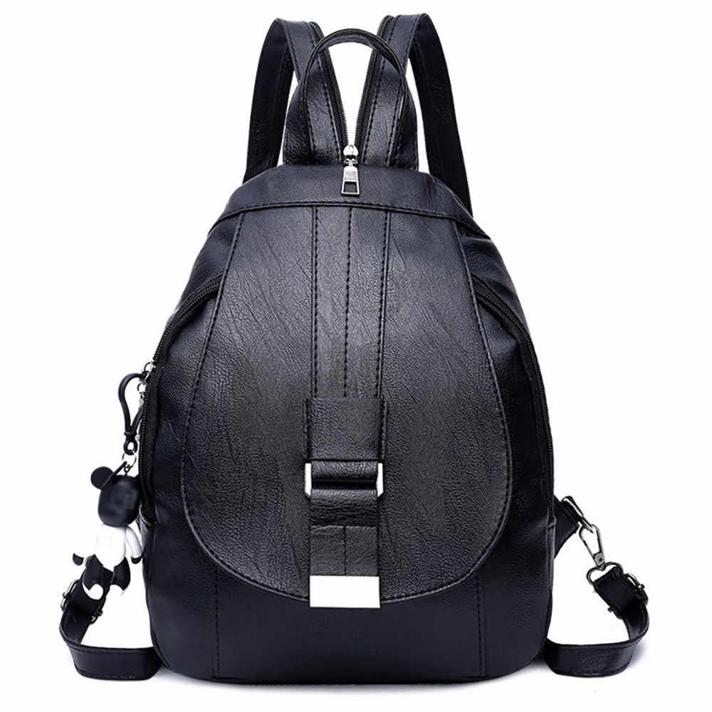 Fashion Women Backpack High Quality PU Leather Backpacks for Teenage Girls  Female School Shoulder Bag Bagpack b1e1b0cf2939f