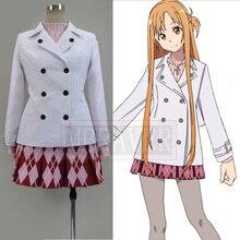 Anime Sword Art Online Yuuki Asuna Cosplay Costume Asuna Cosplay Everyday Dress