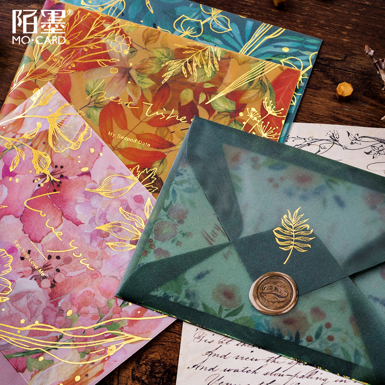 Office & School Supplies Mail & Shipping Supplies Fast Deliver 3pcs/lot Sulfuric Acid Paper Envelope Leaf Star Prince Laser Decoration For Card Wedding Letter Invitation Scrapbooking Gift