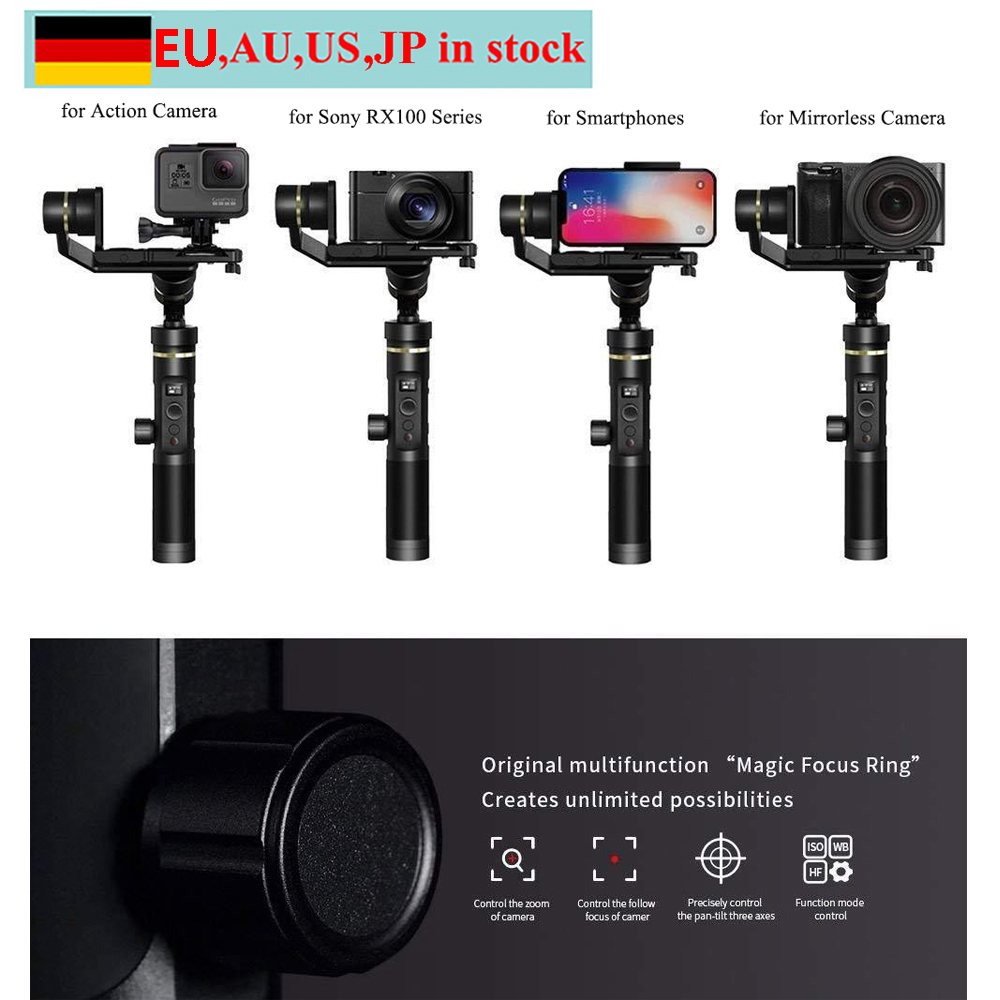 Feiyu G6 Plus 3 Axis Splash proof WIFI Handheld Gimbal for Gopro Hero 6 5 4