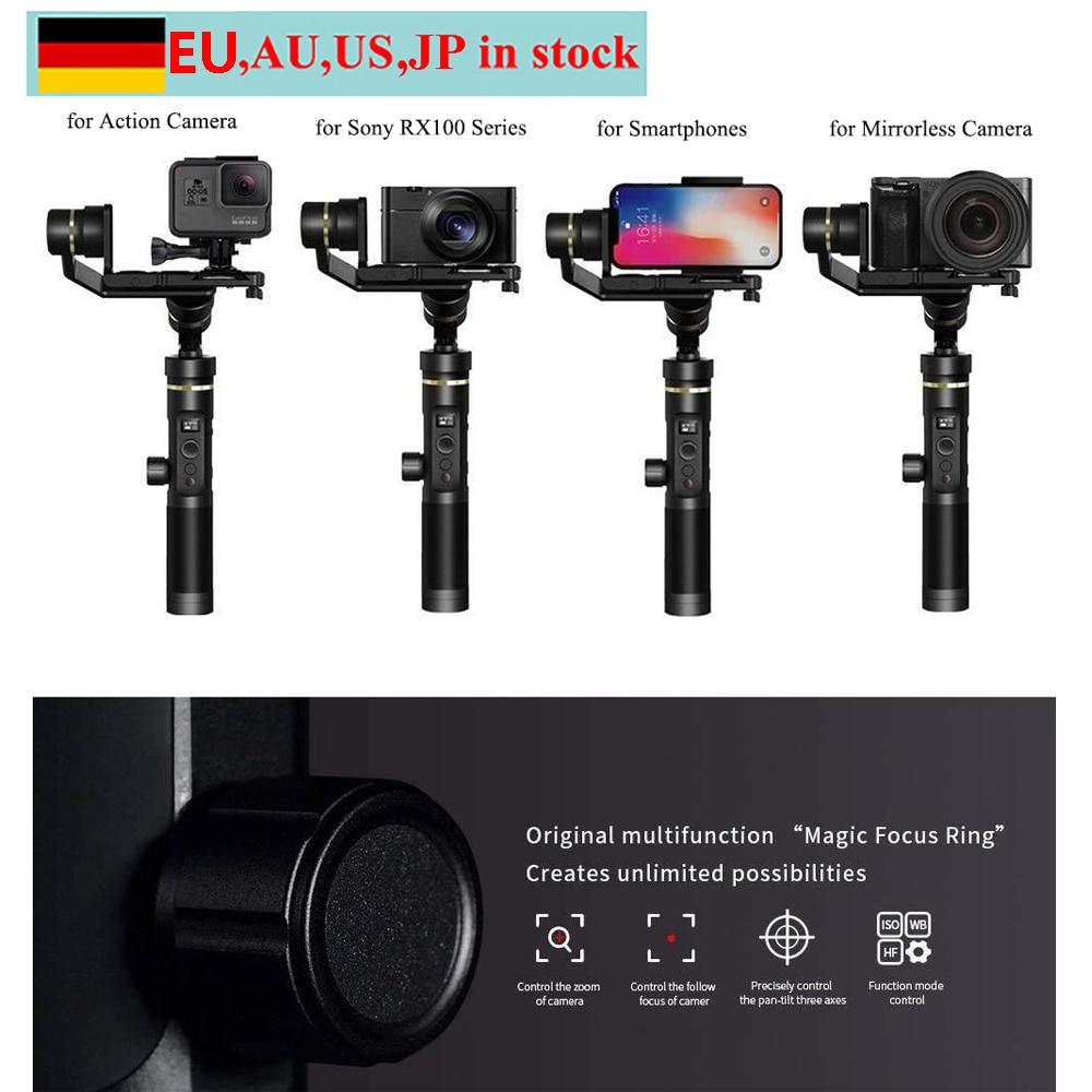 Feiyu G6 Plus cardan de poche WIFI 3 axes résistant aux éclaboussures pour Smartphones caméra d'action Gopro Hero 6/5/4