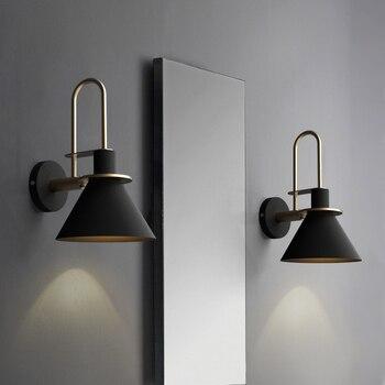 Creative design of Nordic living room wall lamp Simple passageway Makaron corner bedside wall lamp
