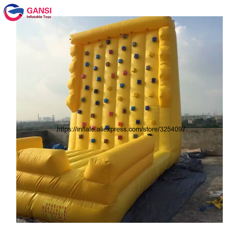 Outdoor inflatable rock climbing wall carnival game foradult and kids with low price inflatable rock climbing game funny summer inflatable water games inflatable bounce water slide with stairs and blowers