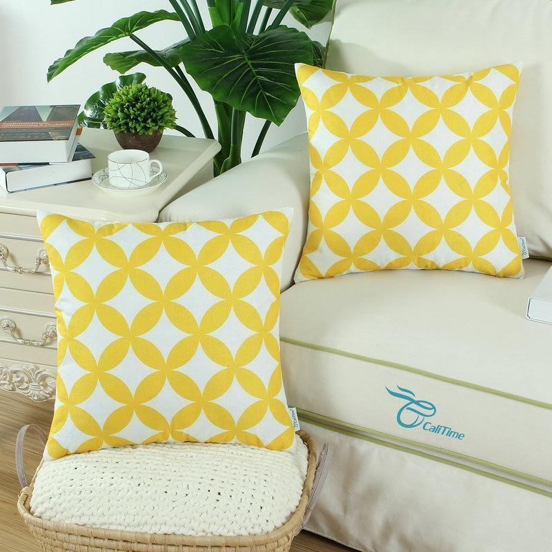 2PCS Square CaliTime jastuk za jastuk Shell geometrijski lanac 18