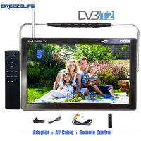 BreezelifeทีวีLED TVแบบพกพาLEDทีวีDVB-T2 DC12 Led 9นิ้ว10นิ้วUSBอินพุตHDMI HDรถดิจิตอลแบบพกพาDVBแบบพกพาLEDทีวี