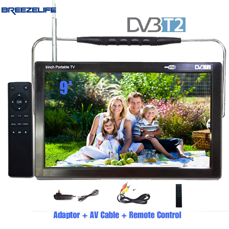 Breezelife TV LED TV Portable LED TV DVB T2 DC12 Led 9 inch 10 inch USB