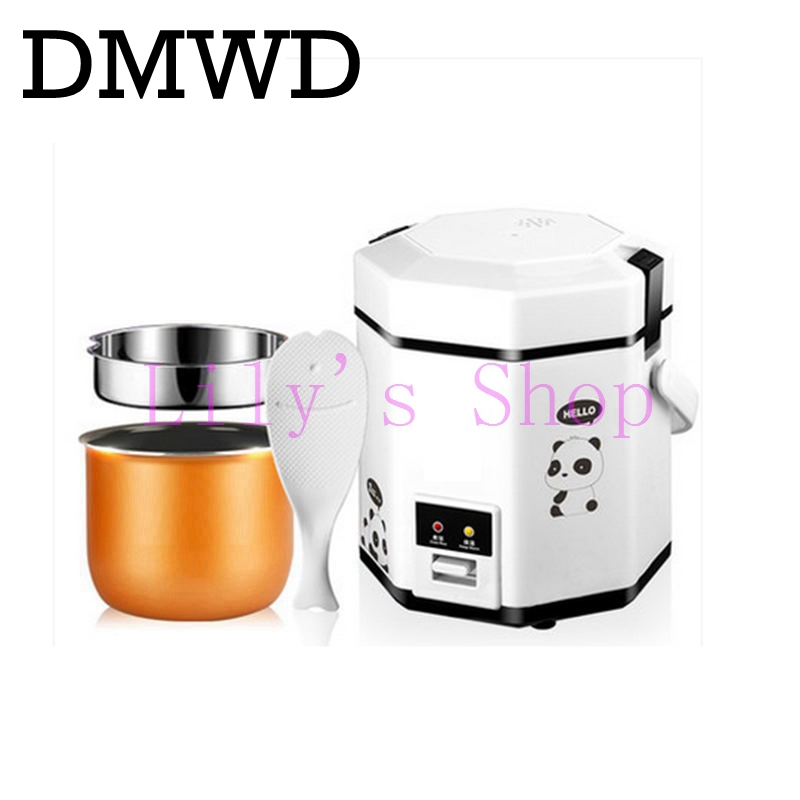 1.2L mini rice cooker small 2 layers Steamer Multifunction cooking Pot Electric insulation heating cooker 1-2 people EU US plug household mini electric induction cooker portable hot pot plate stove dorm noodle water congee porridge heater office eu us plug