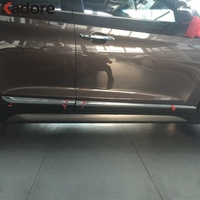 4PCS SET Side Door Body Molding Streamer Cover Trim ABS Chromed Plastic Door Body Strip Decoration
