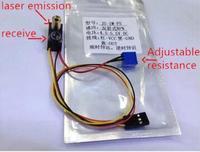 חיישן לייזר חיישן השתקפות מפוזר JG-FS-1M NPN פתוח בדרך כלל מודול מעקב מכונית חכמה לייזר חיישן מיקום לא שקוף
