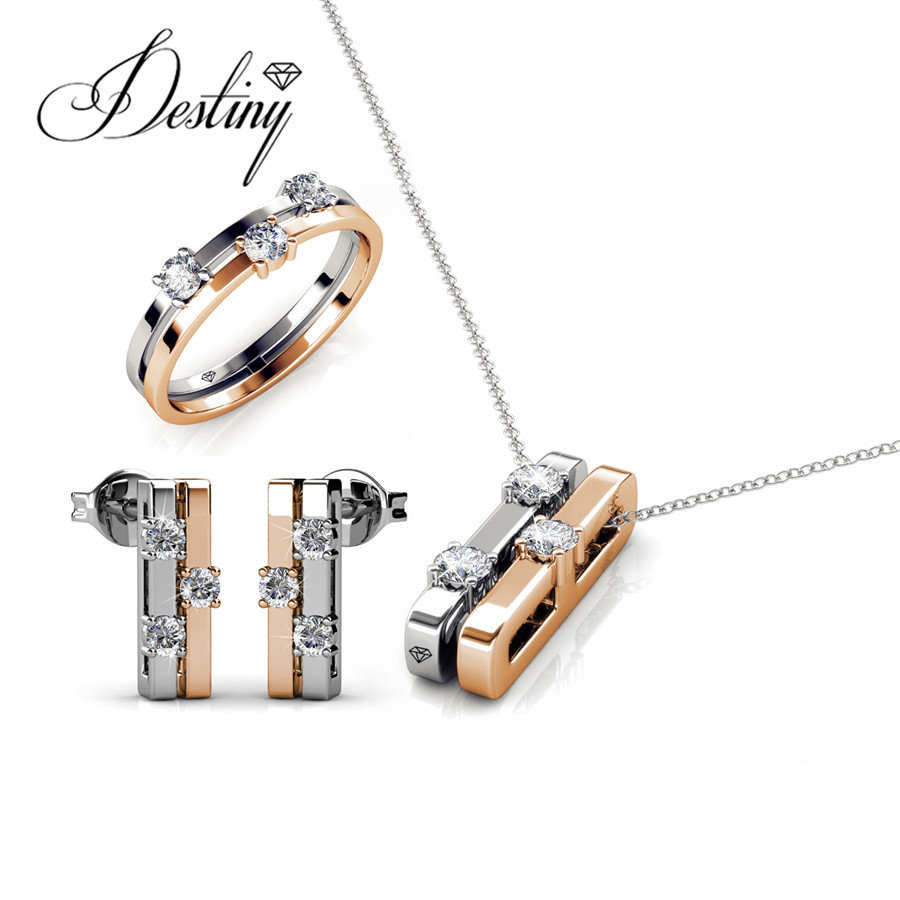 Destiny Jewellery Mother s Day Eva Set Pendant and Earrings Embellished with crystals from Swarovski new