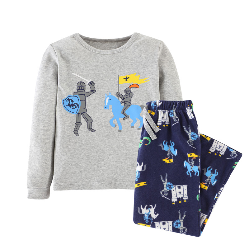 3-12 years Baby clothing set autumn spring  fashion Cartoon children boys Clothes Suit Kids boy christmas 2 pcs Clothing Set