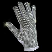 Michael Jackson Cosplay Billy Billie Jean handgjorda imitation guld glänsande punk konsert handskar