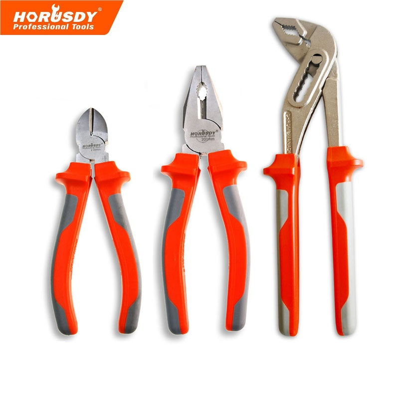 HORUSDY 3 Pcs Pliers Set, Water Pump Pliers , Universal, Cutting for Copper Wire,Aluminum Steel,Steel Wire цена