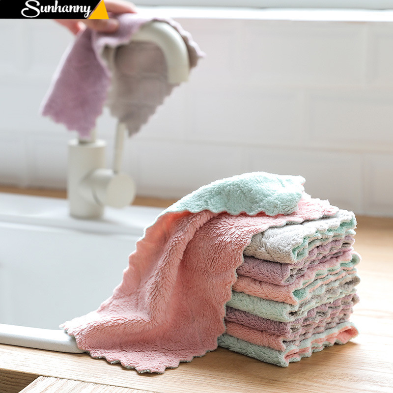 1/4pcs Super Absorbent Microfiber kitchen dish Cloth High-efficiency tableware Household Cleaning Towel Kichen Tools