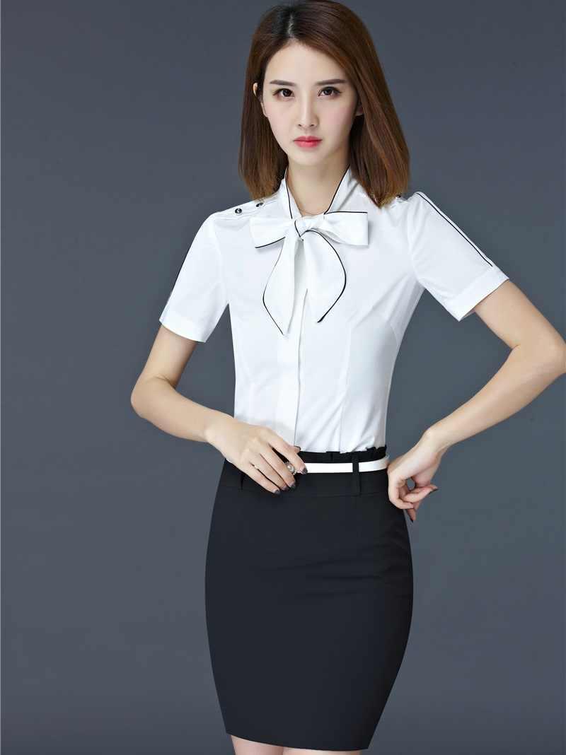 d6b719633439 ... Элегантные красные тонкие модные летние Бизнес костюмы с 2 шт блузки и  Женская юбка для офиса ...