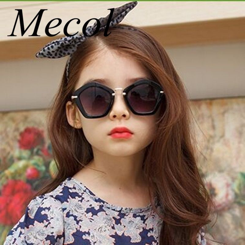 102ca6084ac Mecol 2016 Kids Sunglasses Children Boys Girls Sun Glasses Child Plastic  Frame Rivet Colorful Goggles SHADES Eyewear UV400 M545