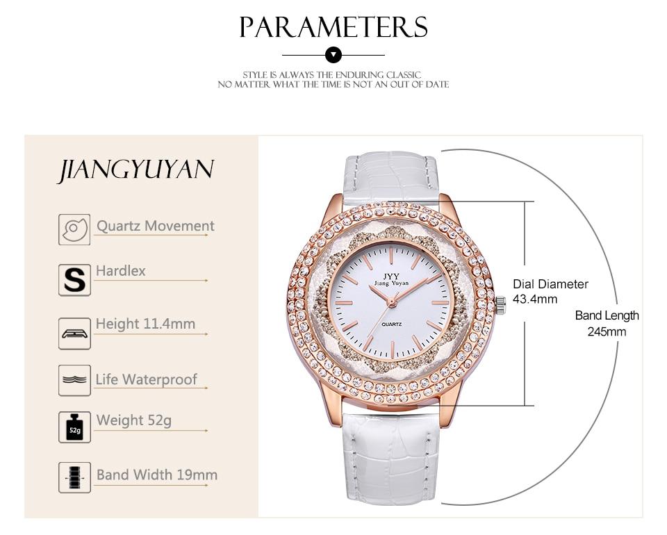 Image 5 - Dropship New Fashion Ladies Leather Crystal Diamond Rhinestone Watches Women Beauty Dress Quartz Wristwatch Hours Reloj MujerWomens Watches   -
