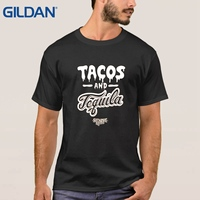 Replica Tee Round Collar More Tacos And Tequila Black Mexico Spanish Drinking Eating Machine Black Man