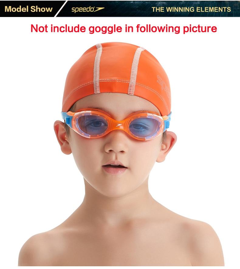 Speedo PU Material Junior Pace Cap Brights Kids Swimming Hood Children s  Swim Hat Swimming Caps For Boy Or Girl Swim Training-in Swimming Caps from  Sports ... f646a36ef