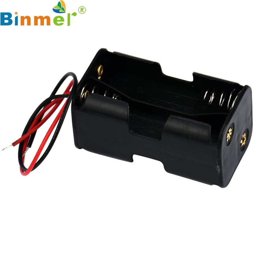 Mecall Tech Aaa Battery Holder/Case/Box For Battery 2-slot 4 X AA Battery Back To Back Holder Case Box With Wire Leads