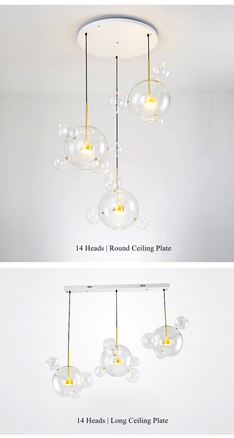 Lights & Lighting Chandeliers Popular Brand Postmodern Led Novelty Chandelier Nordic Fixtures Art Deco Glass Ball Lamps Living Room Hanging Lights Restaurant Chandeliers Highly Polished