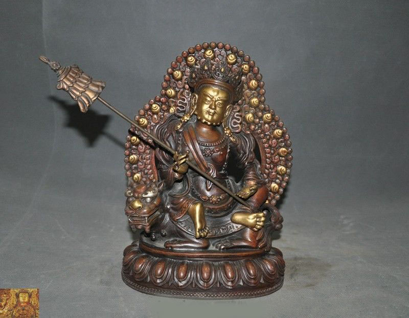 wedding decoration 11Tibetan Bronze 24k gold Gilt Vaishravana Treasure Heavenly King Buddha Statue Sculptureswedding decoration 11Tibetan Bronze 24k gold Gilt Vaishravana Treasure Heavenly King Buddha Statue Sculptures