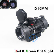 Airsoft Tactical Hunting Holográfica 1x40mm Red Green Dot Sight Rifle Scope 11-20mm Carril Del Tejedor montaje HT5-0024