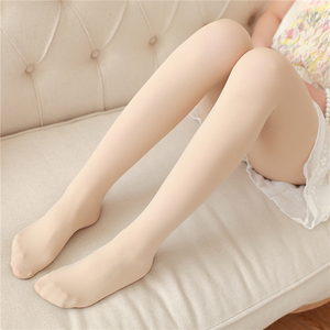 Image 4 - Spring And Autumn Casual Velvet Pantyhose Japanese Soft Sister Solid Color Thin Stockings High Waist Sexy Tight Long Stockings