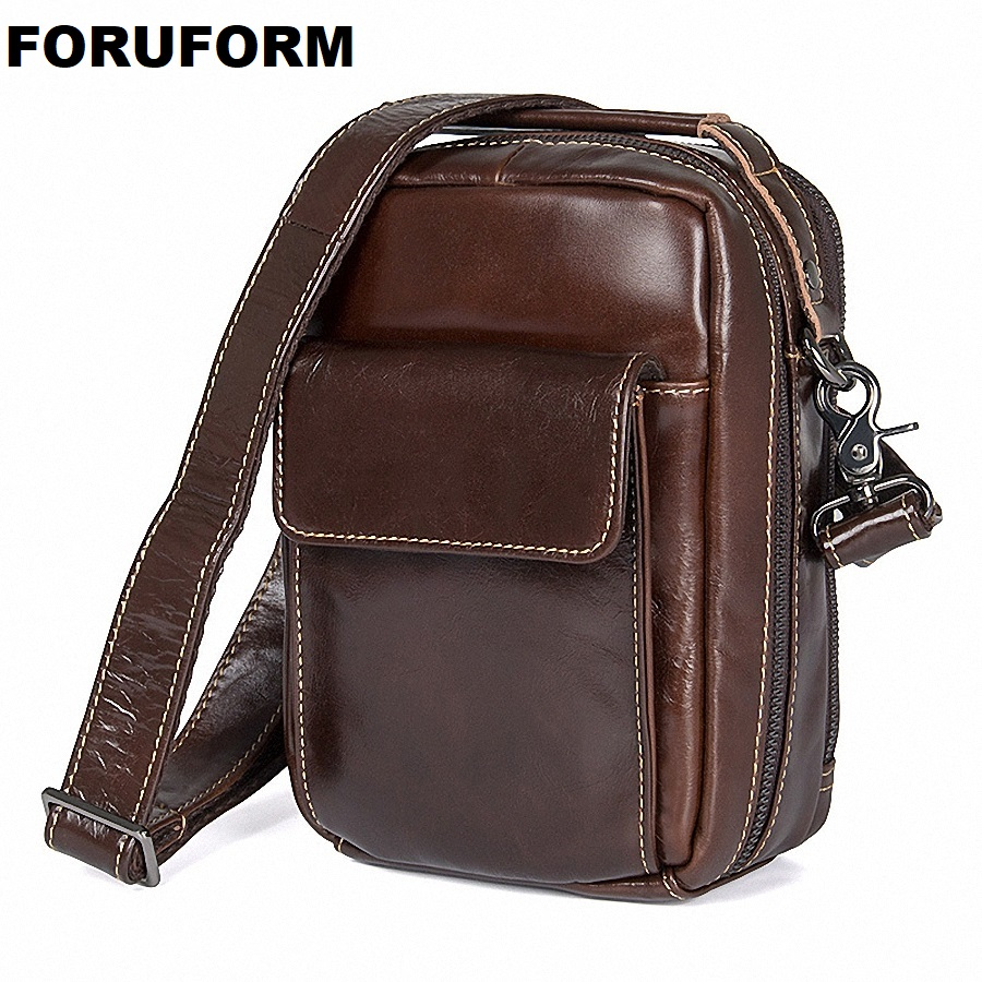 Genuine Leather Men Bag Men Messenger Bags Small Shoulder Bags Crossbody Bag Small Male's Leather Handbag Hot Sale LI-2039 hot 2017 genuine leather bags men high quality messenger bags small travel black crossbody shoulder bag for men li 1611