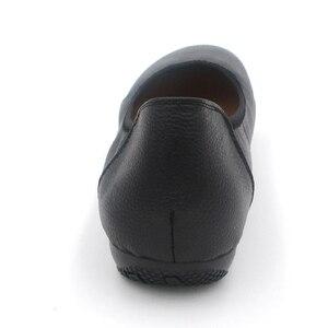 Image 5 - BEYARNE zapatos planos de piel auténtica para mujer, Bailarinas de mujer con punta puntiaguda negra de moda, zapatos planos de mujer bailarina de diseñador de marca