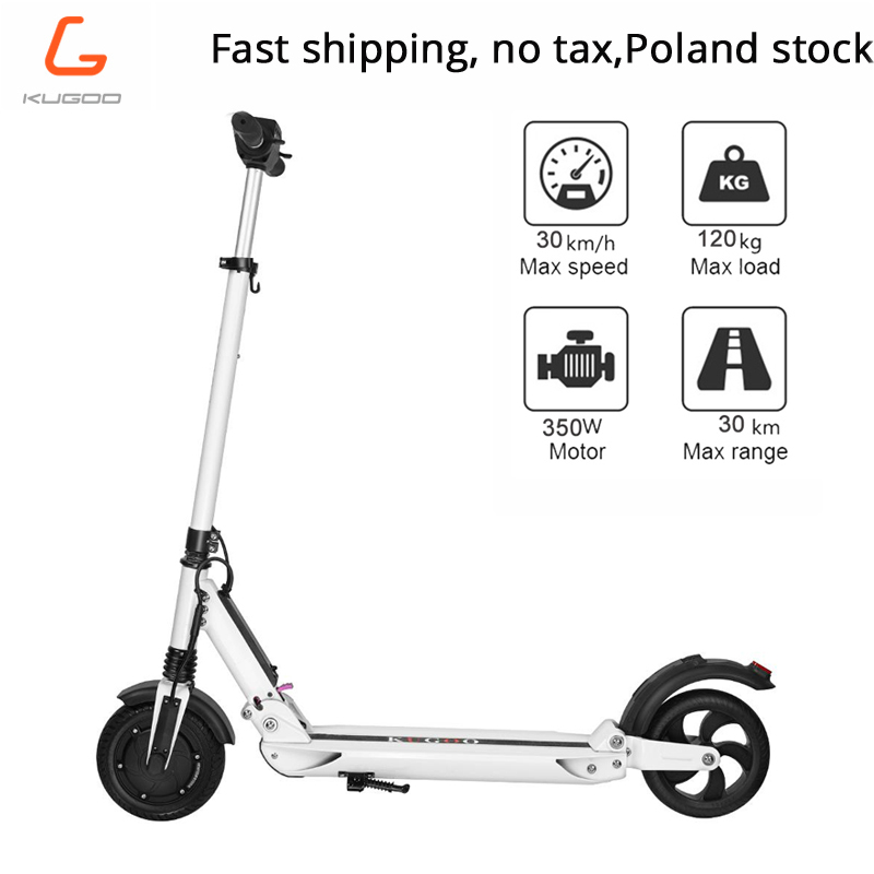 Free tax KUGOO S1 patinetas electricas scooter Adult Electric Scooter 350W 35km h 8 Inches Max