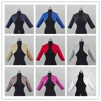 Shawl Bolero Wedding Jacket Bridal Shrug Wraps 3/4 Sleeve Satin Custom Size