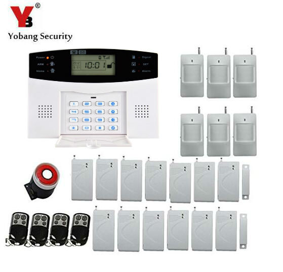 Yobang Security Wireless GSM Alarm System Home Alarm System with PIR Detector Gsm Alarm System Russian/English For Optional yobang security wifi gsm wireless pir home security sms alarm system glass break sensor smoke detector for home protection