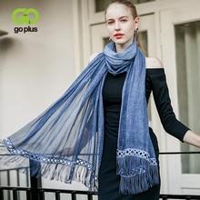 GOPLUS 2018 Spring Winter Tassal long Scarfs Women solid Cotton luxury shawls Vintage Silk scarves Fashion bandana Female hijab