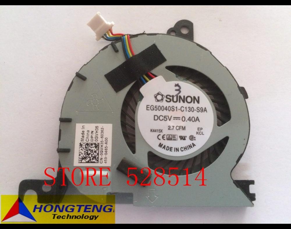 Original Laptop CPU Cooling Fan For Dell Latitude E7240 7240 DC28000D6D0 GVH35 CN-0GVH35 KSB0605HC-CL1N 100% Test ok dell latitude e7240