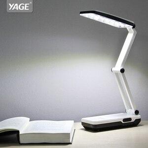 Image 2 - YAGE 5913C led שולחן מנורת לילה אור LED שולחן מנורת קריאת ספרי שולחן אור usb מתקפל 3 שכבה גוף גמיש לאמפה led לשכת
