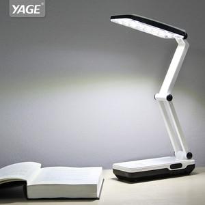Image 2 - Yage 5913C ledデスクランプの夜の光テーブルランプ読書デスクライトusb折りたたみ 3 層ボディ柔軟なランペled局