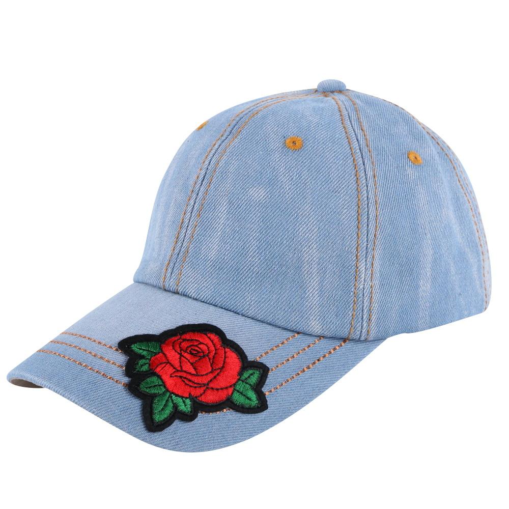 5d1ed7ea953 women girl fashion beauty cap hat rose design floral flower colorful ...