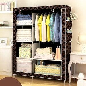 Image 3 - Đơn giản DIY Không dệt Vải Tủ Quần Áo Gấp Gọn Bảo Quản Quần Áo Tủ Chống Bụi Chống Ẩm Tủ Quần Áo Đồ Nội Thất Gia Đình