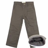 Boys Trousers Formal Teenage Boys Solid Cotton Boy Pants Kids Jeans Solid Cotton Mid Elastic Waist Pants Boys Jeans 8 12Y 4P0880