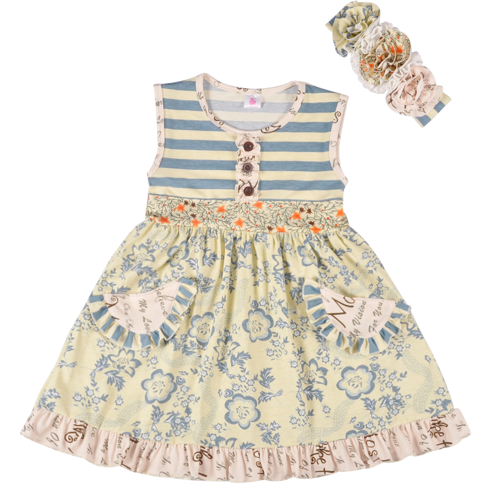 Factory Direct Wholesale Bulk Baby Girl Summer Girls Dress Knited Princess Party Clothing Beautiful Remake Dress LYQ802-05 2016 summer fashion dresses of the girls beautiful female baby lace dress can be customized factory price direct selling