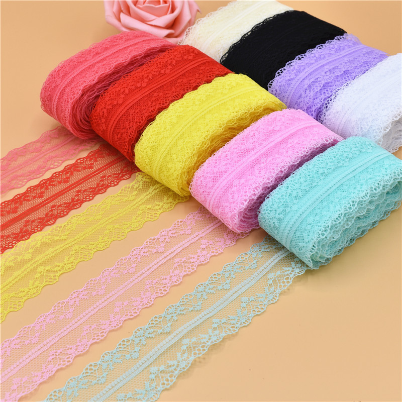 10 Yards Beautiful Lace Ribbon Tape 36MM Lace Trim Fabric DIY Embroidered Net Lace For Sewing Decoration lace fabric 9 Color