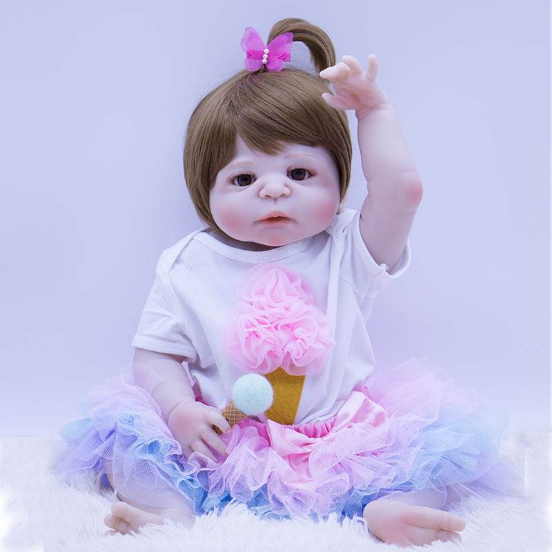 Cute ice cream princess 56cm all Silicone Reborn Baby Doll ...