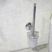 Suction Wall Mounted Stainless Steel Toilet Brush Cleaning White Antique