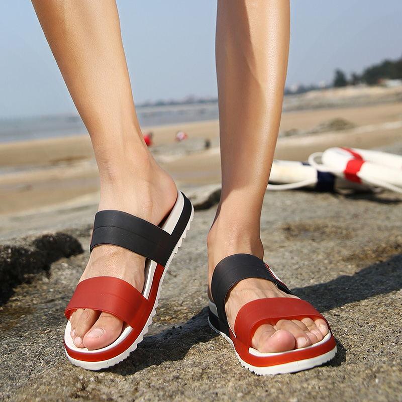 LAISUMK Summer Beach Men Slippers Casual Shoes Double Buckle Man Slip on Flip Flops Flats Camouflage Flip Flop Indoor & Outdoor 111
